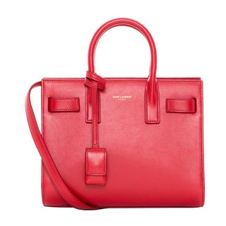Saint Laurent 'Sac De Jour' Small Red Leather Bag