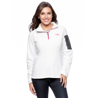 The North Face Women's White Passion Pink Pullover
