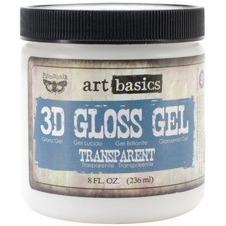 Art Basics 3D Gloss Gel 8oz-Transparent