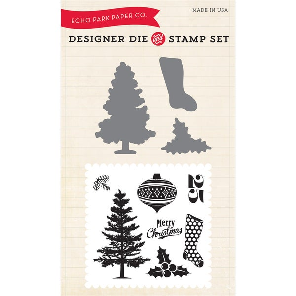 Echo Park Die & Stamp Combo Set-Tis The Season