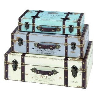 Wood Trunk  (Set of 3)