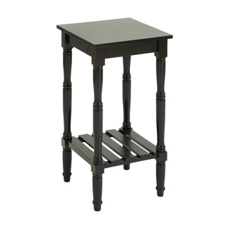 Square Side Table in Dark Chocolate Color with Smooth Finish