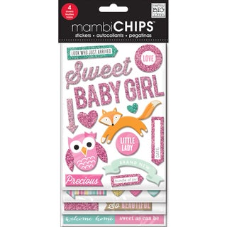 Chipboard Value Pack-Sweet Baby Girl