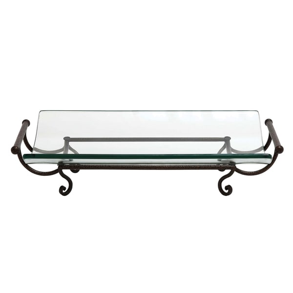 Darcy Decorative Rectangle Glass Plate with Stand