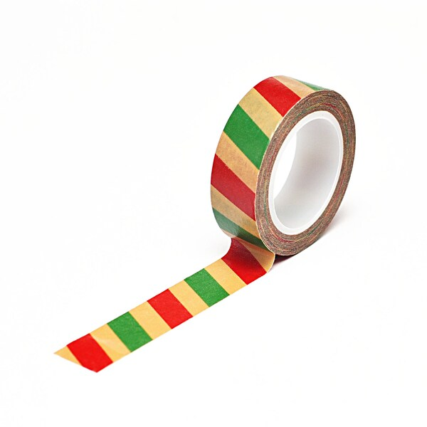Trendy Tape Christmas Kraft Collection-Stripes