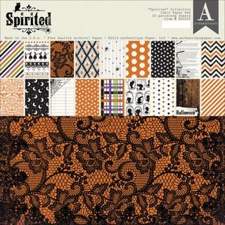 """Authentique Paper Pad 12""""X12"""" 22/Pkg -Spirited"""