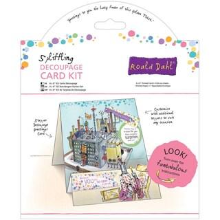 "Roald Dahl 6""X6"" Decoupage Card Kit-Spliffling Factory"