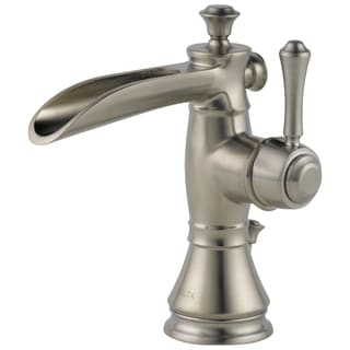 Delta Cassidy Single-hole Single-handle Channel Spout in Brilliance Stainless
