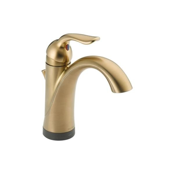 Delta Lahara Single-handle Lavatory Faucet with Touch2O Xt Technology in Champagne Bronze