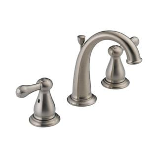 Delta Leland Double-handle ADA-compliant Widespread Lavatory Faucet in Brilliance Stainless
