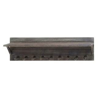 Wood Wall Hook Shelf