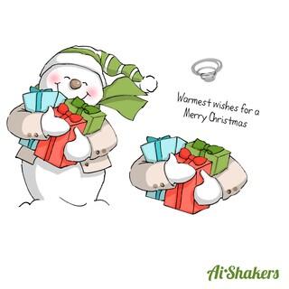 Art Impressions Shakers Card Set-Snowman