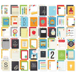 """Sn@p! Double-Sided Card Pack 3""""X4"""" 48/Pkg-School"""