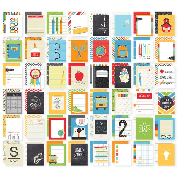 "Sn@p! Double-Sided Card Pack 3""X4"" 48/Pkg-School"