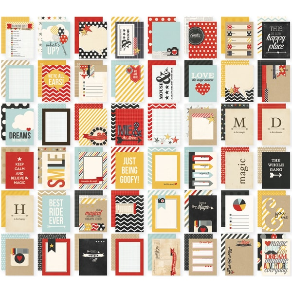 "Sn@p! Double-Sided Card Pack 3""X4"" 48/Pkg-Say Cheese"