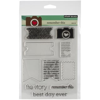 """Penny Black Clear Stamps 5""""X6.5"""" Sheet-Remember This"""