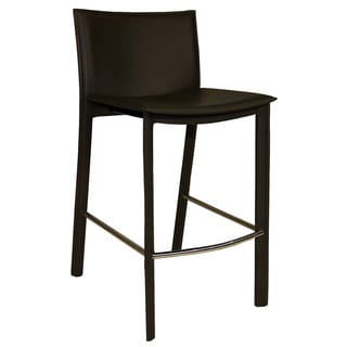 Aurelle Home Carina Leather Counter Stool