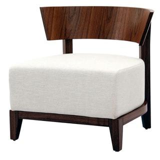 Aurelle Home Dallas Off-white Mid Century Chair