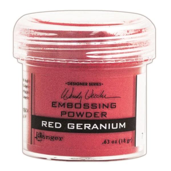 Wendy Vecchi Embossing Powders 1oz-Red Geranium