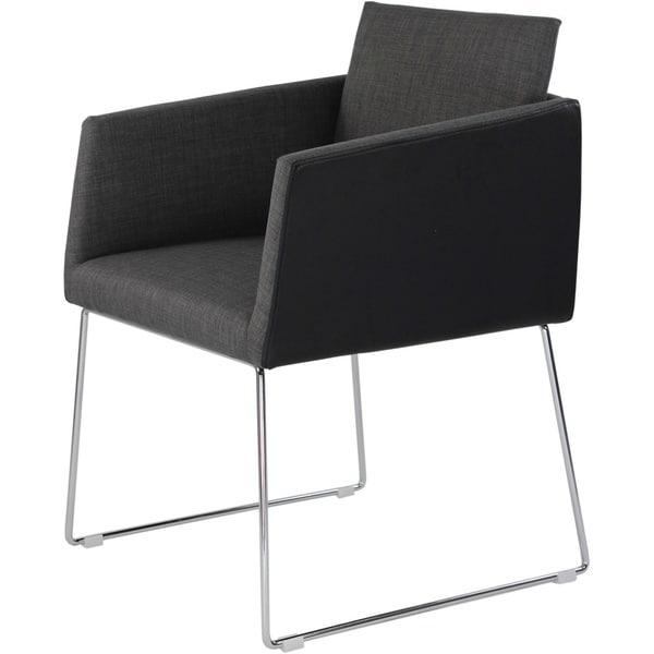 Aurelle Home Kvadrat Dark Grey Arm Chair