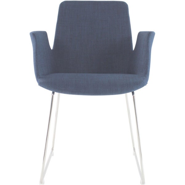 Aurelle Home Angie Blue Arm Chair