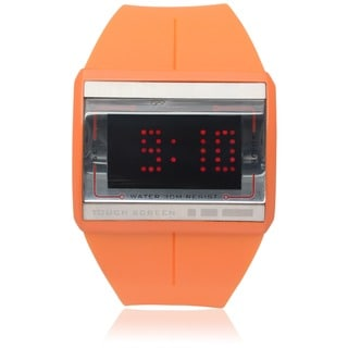 Geneva Platinum Mens Touch Screen Silicone Band Watch