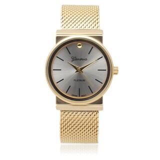 Geneva Platinum Quartz Bracelet Watch