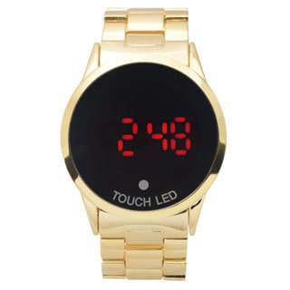 Geneva Platinum Men's Touch Screen Digital Link Watch