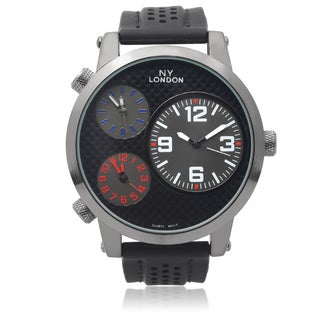 GP London Men's Silicone Band Multi-time Zone Watch