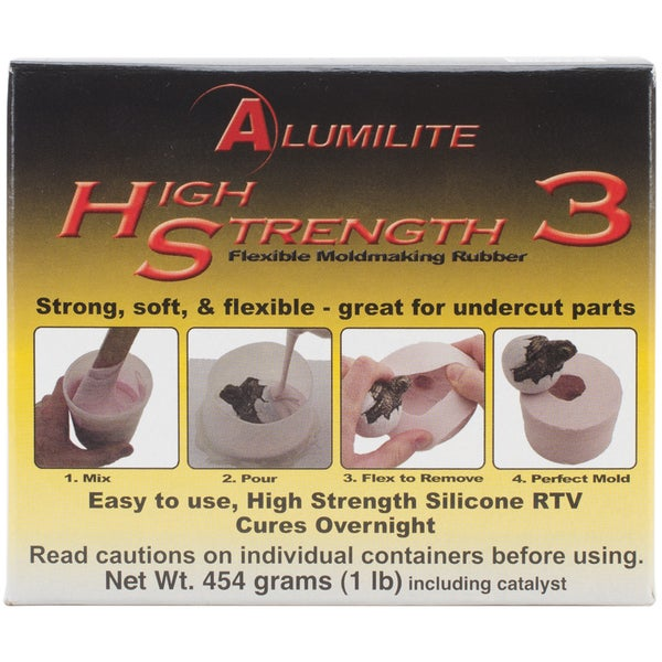 Alumilite High Strength 3 Liquid Mold Making Rubber 1lb-Pink