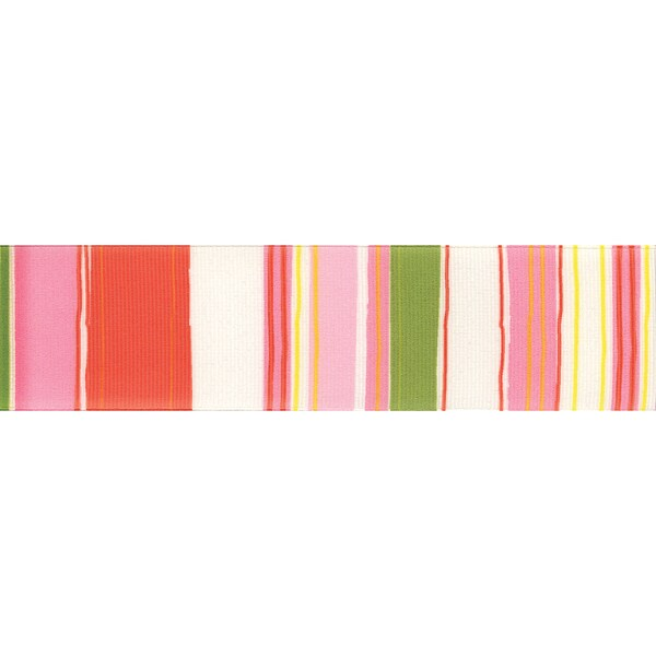 "Retro Stripe Ribbon 1-1/2""X9'-Pink & Green"