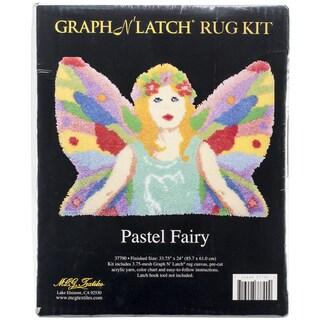 "Latch Hook Kit 33.75""X24"" Shaped-Pastel Fairy"