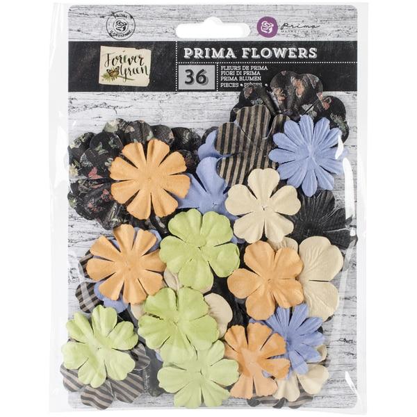 "Forever Green Flowers-Paper Spore 1.25"" To 2"", 36/Pkg"