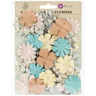 "Coffee Break Flowers-Paper Vanilla Latte 1.25"" To 2"", 36/Pkg"