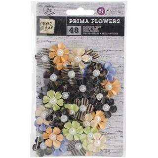 """Forever Green Flowers-Paper Herb 1"""", 48/Pkg"""