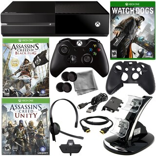Xbox One Asassin's Creed Holiday Bundle with Watch Dogs & 8 in 1 Kit