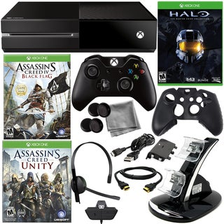 Xbox One Asassin's Creed Holiday Bundle with Halo Master Chief Collection Game & 8 in 1 Kit