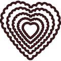 Darice Embossing Essentials Dies-Nesting Scallop Hearts 5/Pkg