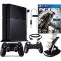 PlayStation 4 500GB Bundle with Watch Dogs Game & Accessories