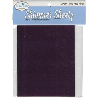"""Metallic Mylar Shimmer Sheetz Sampler 5""""X4"""" 10/Pkg-Multicolor"""