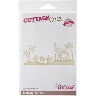CottageCutz Elites Die -Nativity Border