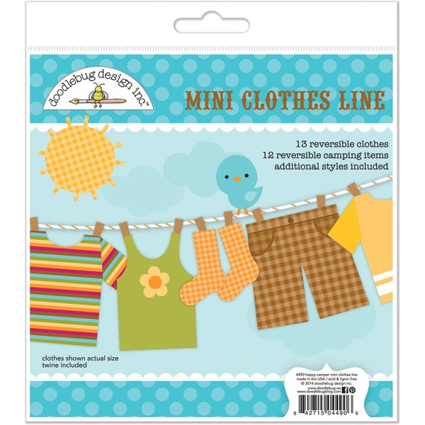 Happy Camper Paper Craft Kit-Mini Clothes Line
