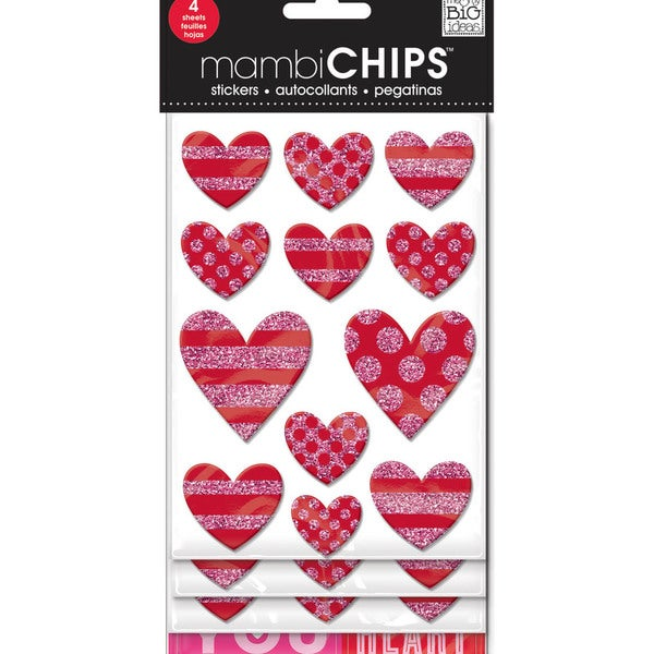 Chipboard Value Pack-Love Hearts