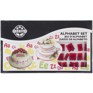 Plastic Cutter Set 64pc-Lower And Uppercase Alphabet