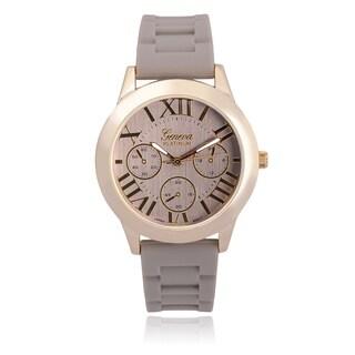 Geneva Platinum Silicone Band Watch