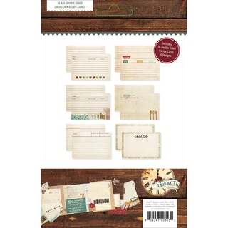 "Sn@p! Double-Sided Recipe Cards 4""X6"" 36/Pkg-Legacy"