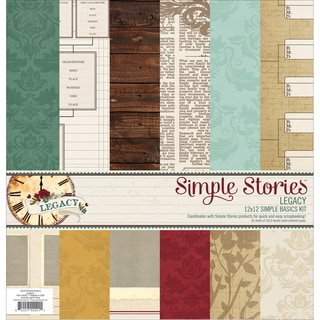 "Simple Stories Simple Basics Kit 12""X12""-Legacy"