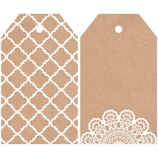 "Mix & Match Tag Pack 2""X3.25"" 12/Pkg-Lacy"