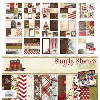 """Simple Stories Collection Kit 12""""X12""""-Cozy Christmas"""
