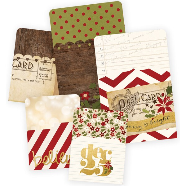 "Sn@p! Memorabilia Pockets 5/Pkg-Cozy Christmas (2) 4""X6"" & (3) 3""X4"""